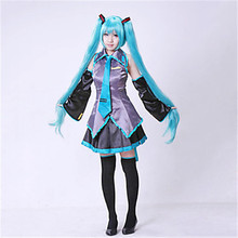 High quality Hatsune Miku Love is Wall Vocaloid Cosplay Costume dress suits without wig halloween fancy ball party