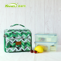 Kinnet Oxford Insulated Lunch Bags for Women Kids Portable green Thermal Lunch Bag Box Men Food Picnic Bento Cooler Bag Tote