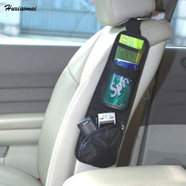 Huxiaomei Car Seat Organiser Storage Bags Phone Magazine Drinks ...