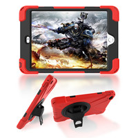 For Apple Ipad Mini 4 Case Kids Safe Shockproof Heavy Duty Silicone Hard Cover Kickstand Hand