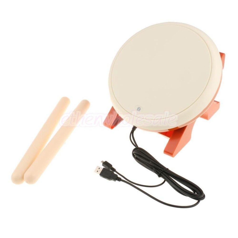 Perfeclan Taiko Drum Taiko No Tatsujin Peripherals taiko Controller Drum Set for Sony PS4 / PS4 Slim / PS4 Pro Console