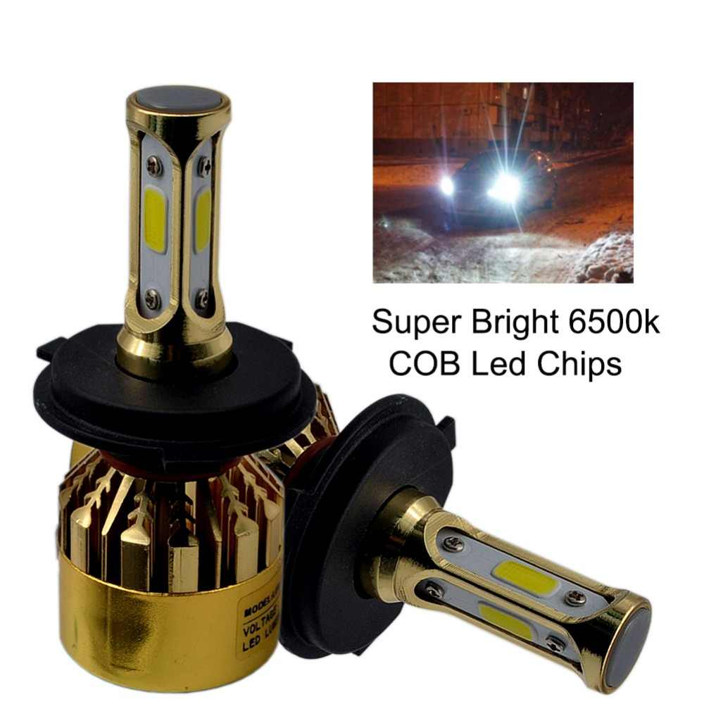 H4 H7 H11 H1 H3 9005 9006 COB LED Car Headlight Bulb 72W 8000LM Automobile Headlamp Auto Front Fog Light Bulb 6500k Car Styling