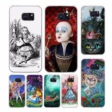 Алиса в стране чудес дизайн прозрачный clear hard case cover для samsung galaxy s7 s8 плюс s6 s7 край s5 s4 мини