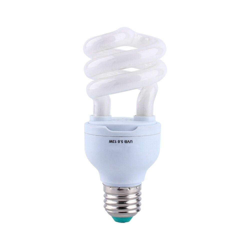 220V E27 Reptile Lamp 5.0 UVB UVA 13W Compact Light Fluorescent Desert Terrarium Lamp Bulb Desert And Amphibians