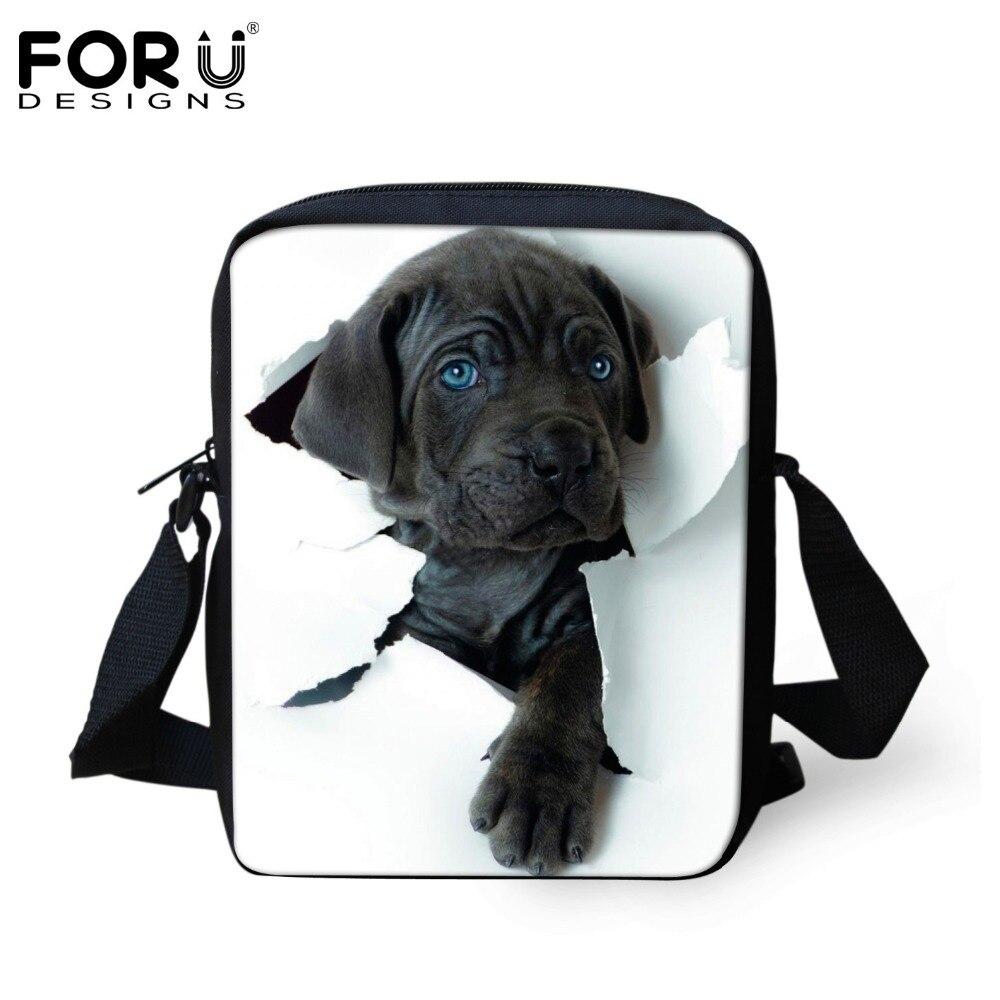 Forudesigns настроить Для женщин Курьерские сумки милый питомец Кошка Собака печати сумка Курьерские Сумки Высокое crossbosy сумка для Обувь для дев…