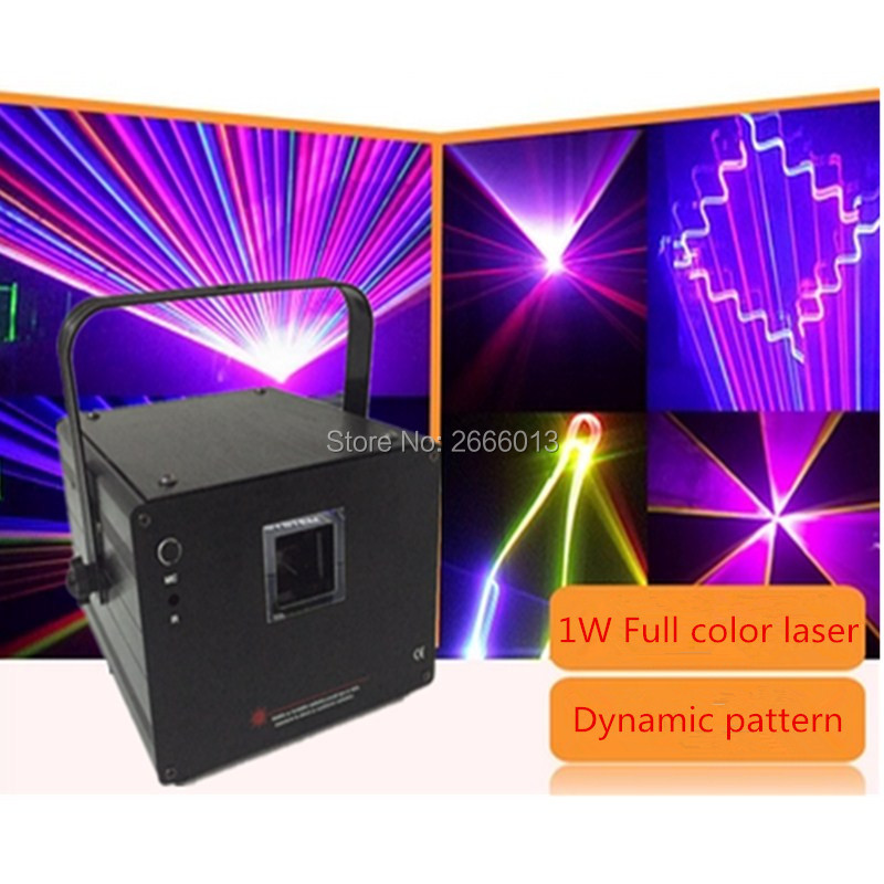 Professional 1W RGB Laser Light 3D Laser Light Show RGB Laser Projector With 3D Effect For DISCO BAR Nightclub 1W Dj Party Light rg mini 3 lens 24 patterns led laser projector stage lighting effect 3w blue for dj disco party club laser