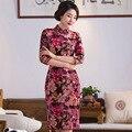 Top quality velour cheongsam Evening Dress women dress vestidos Chinese tang suit Qipao party dress sizeS-3XL
