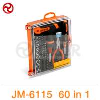 Jakemy 60 IN 1 Interchangeable Precise Manual Professional Hardware Tools Set For Iphone 5s 6 Mobile