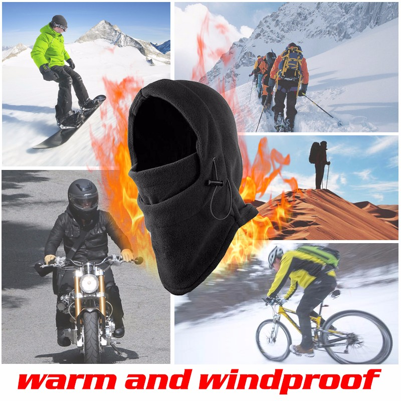6 in 1 Thermal Fleece Outdoor Winter Wind Stopper Face Hats