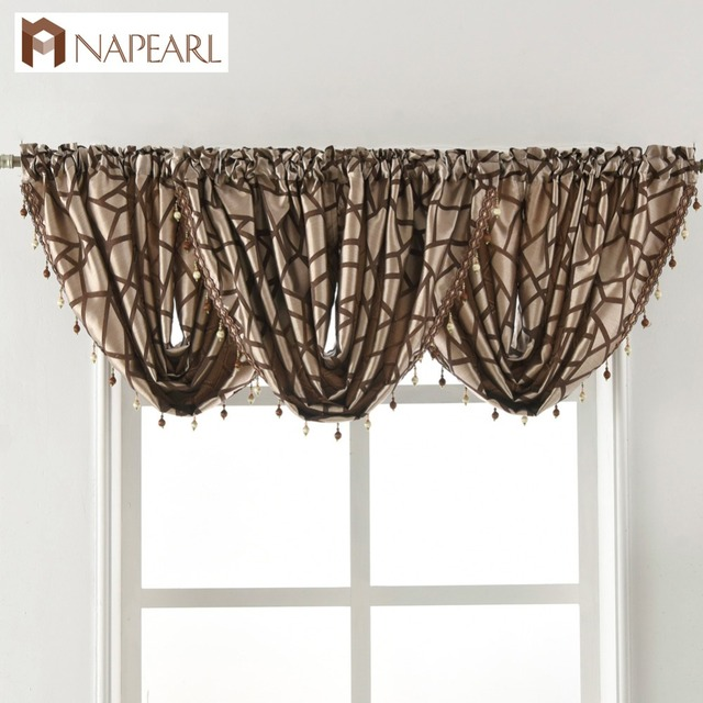 Beaded Waterfall Valance Luxury Living Room Window Valance Decoration Home  Pelmet Fancy Modern Window Treatment Curtain