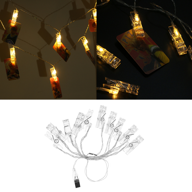 1PC Useful USB/Battery Power LED Light Clips String for Beautiful ...