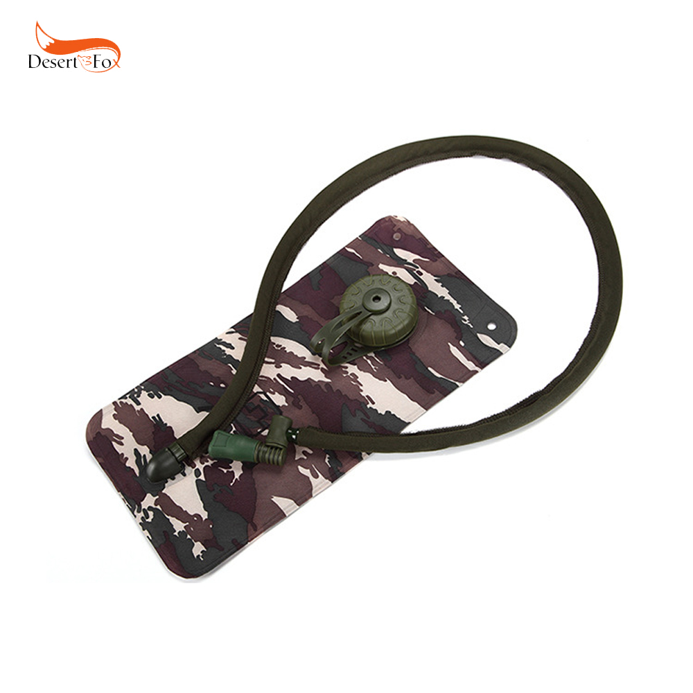 1.5L Camouflage Water Bags Folding Hydration System Food Grade TPU Cloth Small Mouth for Outdoor Rafting Hiking Camping
