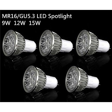 1pcs Super Bright 9W 12W 15W GU5.3/MR16 LED Bulb Light Lamp 110V 220V Dimmable Led Spotlights Warm White /Cool White