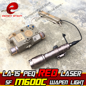 Element Airsoft Surefir M600C Wapen light 15 LA-SC UHP Red Dot Laser PEQ Rifle Arma Double Switch Gun Tactical Weapon Flashlight