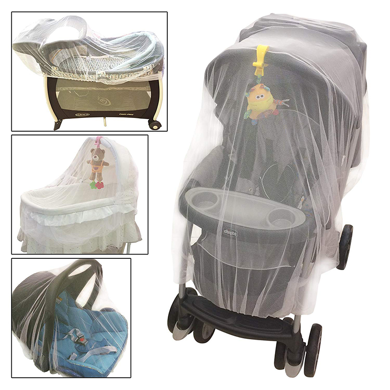Newborn Toddler Infant Baby Stroller Crib Mosquito Net For Stroller And Bassinet Netting  With Elastic Edges Pushchair Mosquito