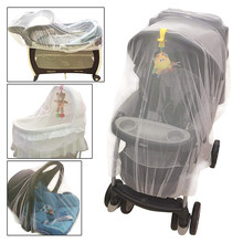 Newborn toddler infant baby stroller crib mosquito net for stroller and bassinet netting with elastic edges pushchair mosquito(China)