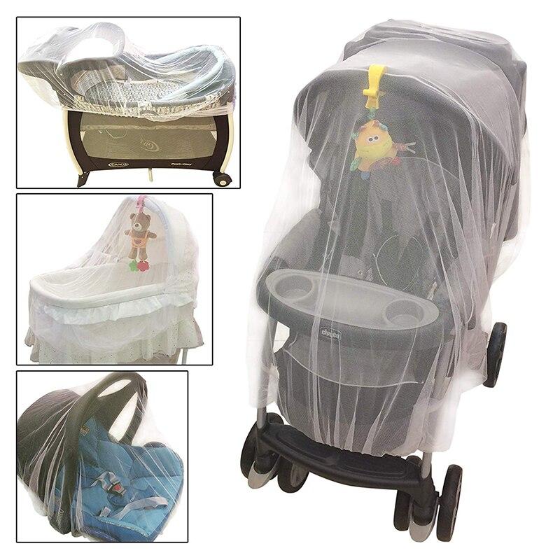 Pasgeboren peuter infant kinderwagen wieg klamboe voor wandelwagen en wieg netting met elastische randen wandelwagen mosquito