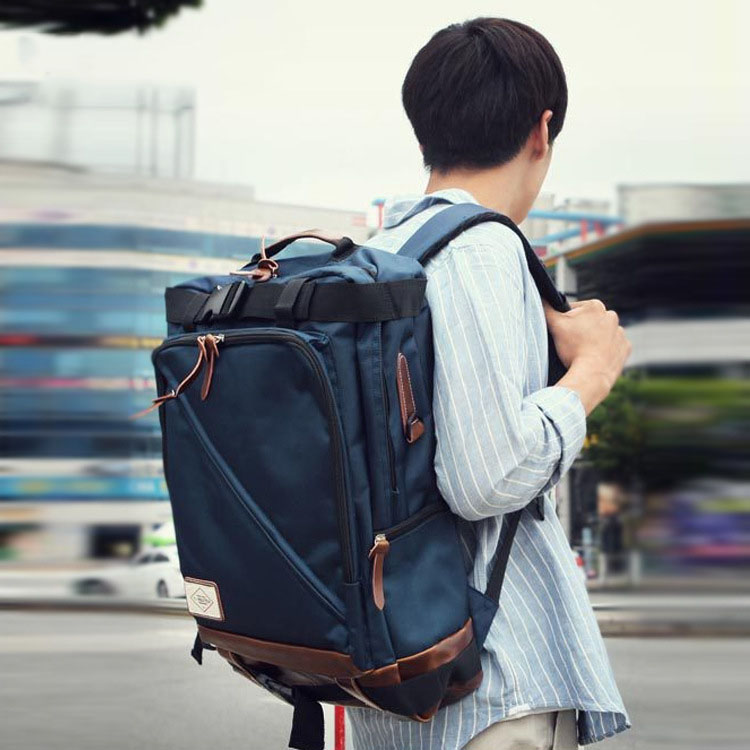 Men's Korean fashion zipper nylon shoulder bag wear, burden, waterproof, anti-theft, shock, breathable creative casual nylon men 5