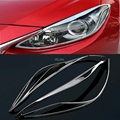 Accessories Chromed Front Head Light Lamp Headlight Cover Trim 2pcs For Mazda 3 AXELA M3 2014 2015