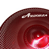 "Aborea - Red Color Low volume cymbal set - 14""hihat+16""crash+18""crash+20""ride 2"