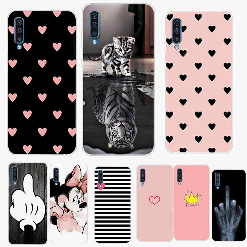 For Samsung Galaxy A50 Case 2019 Fashion Flower Soft TPU silicone Back Cover For On Samsung A30 A10 A 50 A505 Phone Shells Cases