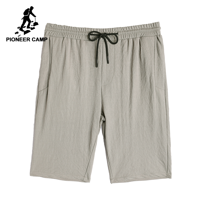 Pioner camp new summer shorts men brand clothing thin casual short pants for men solid quality bermuda khaki black ADK801110