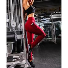 Yfashion Women Training Pants Leggings with Phone Pockets Slim Fit Quick-Dry Outdoor Ninth High Waist Sweatpants Trousers Female