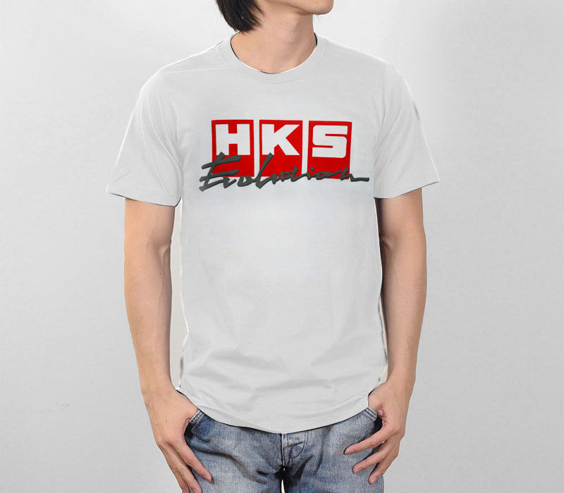 HKS Evolution 로고 파워 터보 성능 MotorSportser Racingerer 화이트 티셔츠 Streetwear Funny Print Clothing 힙합 티셔츠