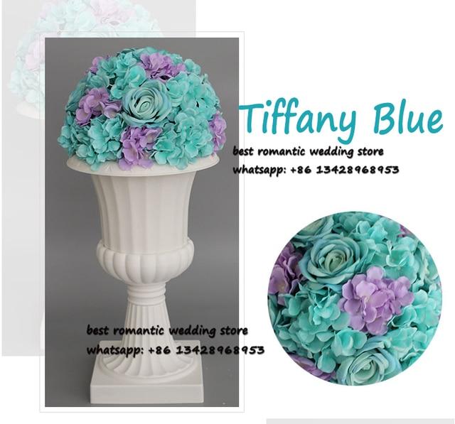 Aliexpress Buy Tiffany Blue Rose And Hydrangea Flower Table