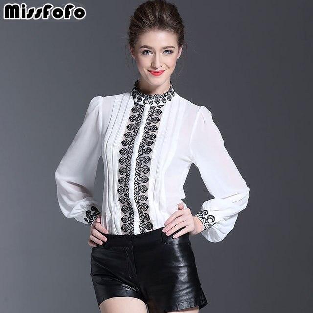 MissFoFo 2019 Женская длинная рубашка офисный женский узкий белая Элегантная Шелковая Рубашка с воротником-стойкой Повседневная цельная рубашка анти-сезонная блуза