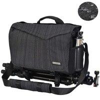 Waterproof Nylon Camera Messenger Bag Travel DSLR Camera Backpack with Rain Cover for Sony Nikon Canon Digital Camera Lens Case