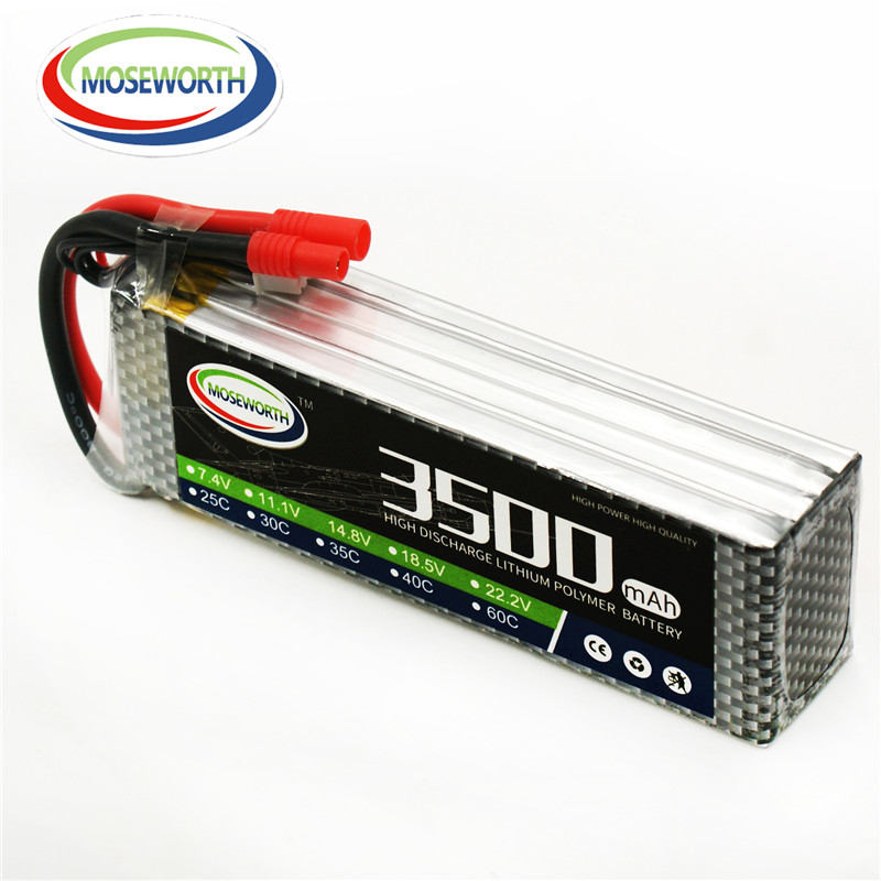 MOSEWORTH 6S RC Lipo Battery 22.2v 60C 3500mAh For RC Aircraft Car Airplane Drones Boat Quadcopter Helicopter Li-polymer AKKU 6S 1s 2s 3s 4s 5s 6s 7s 8s lipo battery balance connector for rc model battery esc