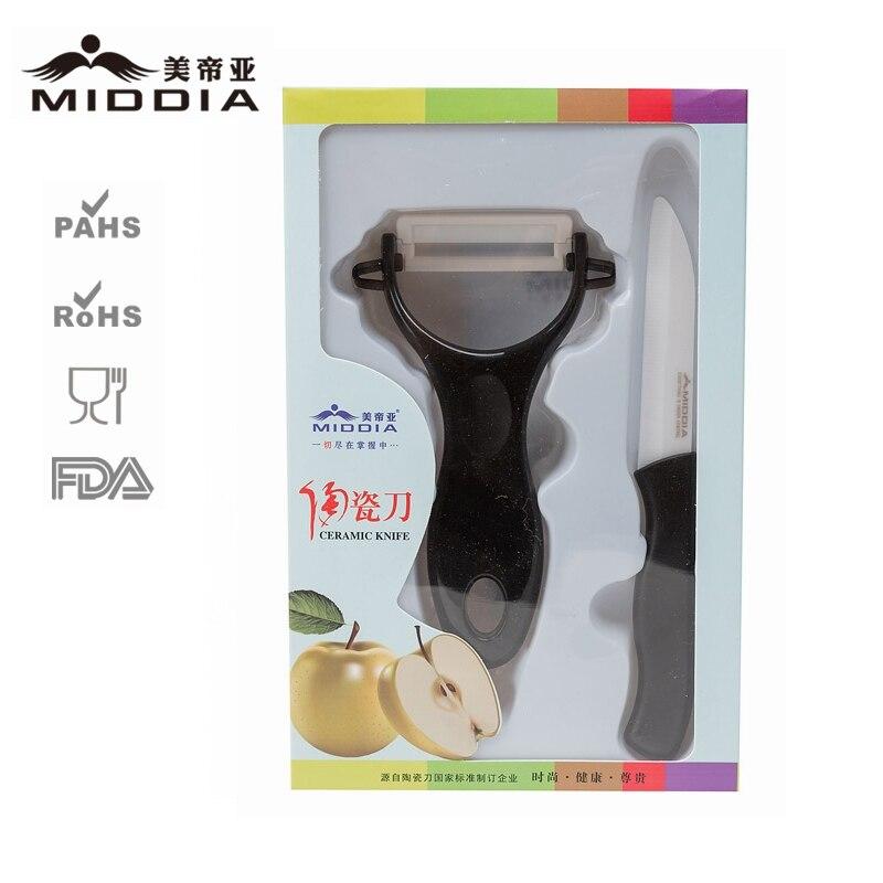 Middia 세라믹 부엌 칼 주방 도구 칼 선물 과일 칼 애플 필러에 대 한 설정