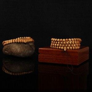 Image 3 - 6 8 millimetri 108 Wenge Legno Perline di Preghiera Buddista Tibetano Buddha Braccialetto Per Le Donne Degli Uomini Del Braccialetto Dei Monili