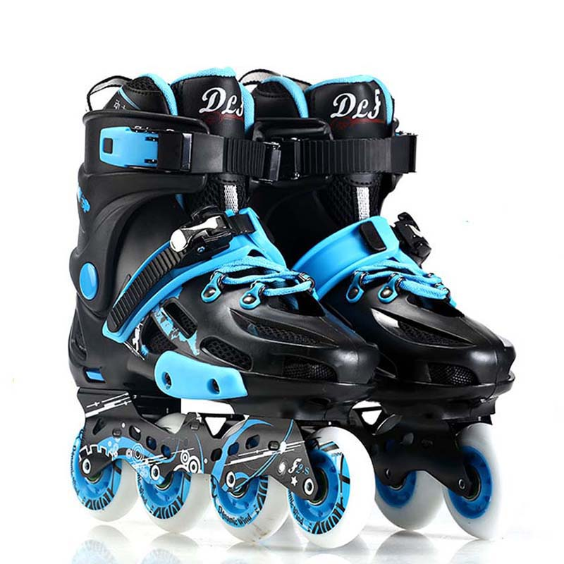 Adult Professional Inline Skates Slalom Roller Skating Shoes Sliding Free Skating Good As SEBA Patines 85A Wheel DLF F2S IA28 цена 2017