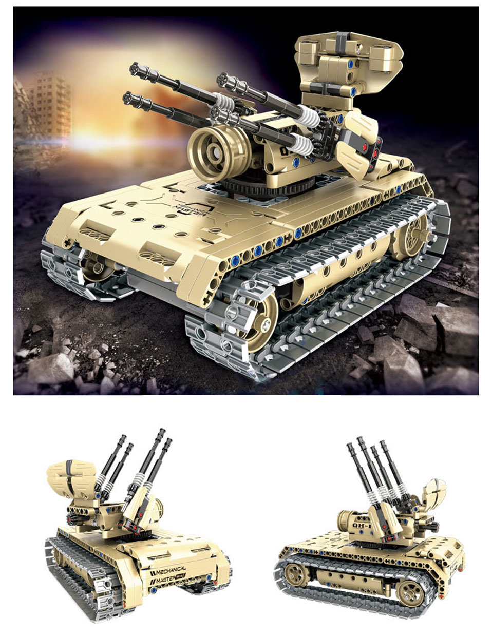 502Pcs LEPIN Technic Remote Control Blocks Vehicle Borne Unmanned Aerial Vehicle Toys Building Blocks Bricks Toys for Children