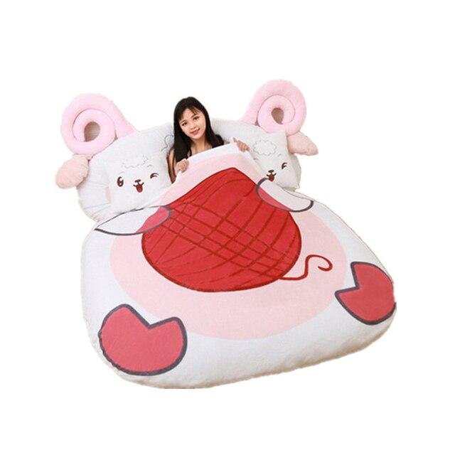 Fancytrader Giant Stuffed Animal Sheep Bed Soft Plush Beanbag Mattress Sofa Mat