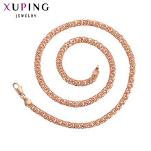 11.11 Deals Xuping for Women Fashion Jewelry Temperment Design Rose Gold-color Plated Long Necklace Thanksgicing Gifts S92-44802