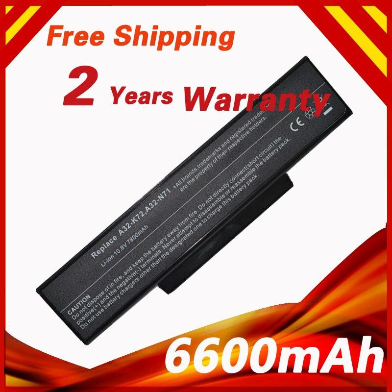 7800mah Battery For Asus A32 K72 A32 N71 K72 K73 N71 N73 X77 70 NX01B1000Z 70