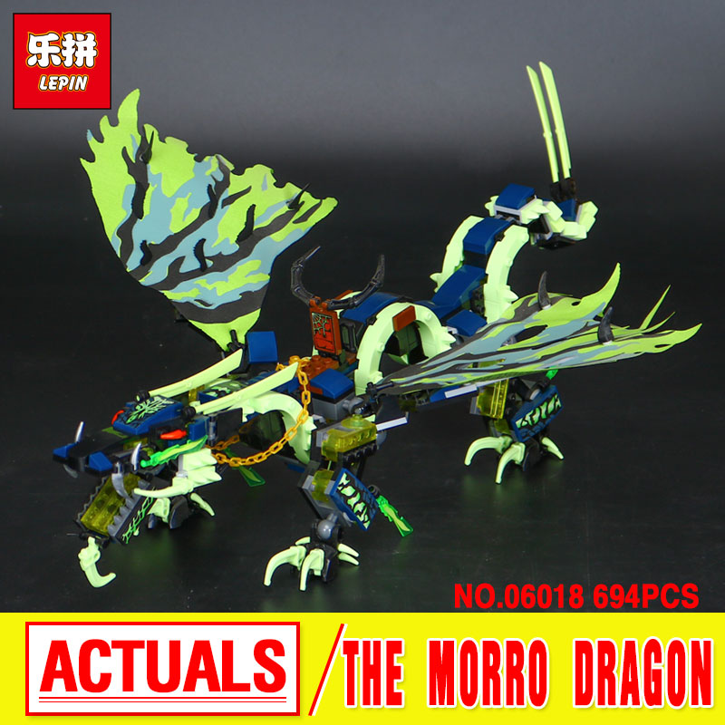 694PCS LEPIN 06018  Attack of the Morro Dragon Building Block Action Model Kits Brick Educational Toys For Children Boy Games 10504 694 pcs the secret market place building kit dragon figures building block compatible with lepin girl toys gift