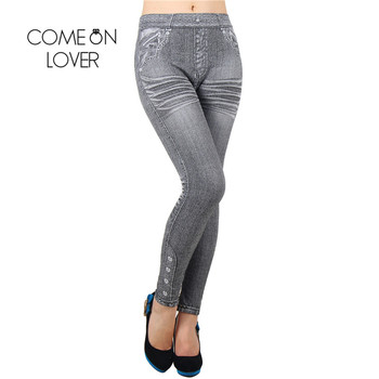 Comeonlover Work Out Leggings Gray Fashion Style Demin Legging Woman Leggings Trendy Super Deal Jean Type Legging Jeans TI2418 2