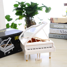2017 New White Piano Music Box Classical Day Gift Boutique Mechanical Music Box Craft Gifts for Kids
