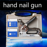 Strong and durable three yards nail gun by hand U nail gun Staple guns Straight nail tool box Nailing Bag Kit
