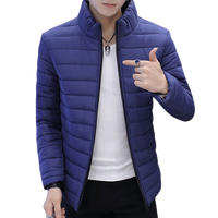 Winter Men Jacket 2017 Brand Casual New Solid Color Simple Mens Jackets And Coats Thick Parka