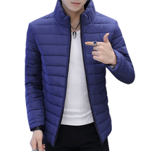 Winter Men Jacket 2017 Brand Casual New Solid Color Simple Mens Jackets And Coats Thick Parka Men Outwear 4XL