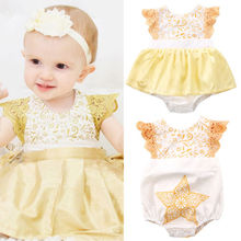 Newborn Toddler Baby Girls Sisters Xmas Lace Bodysuit Party Dress Clothes 0-24M