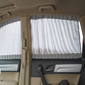 50S 50x37cm Universal Car Sunshade Window Curtain UV Sunscreen Curtains Protection Adjustable Gray