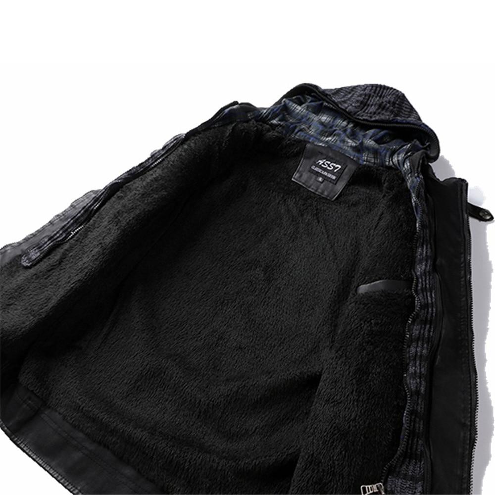 Taille Vêtements Noir Moto D'hiver Mode Marque Slim Hommes Homme Vestes Capuchon Cuir En Outwear 2018 De À Fit Grande Veste ZHqnTYn