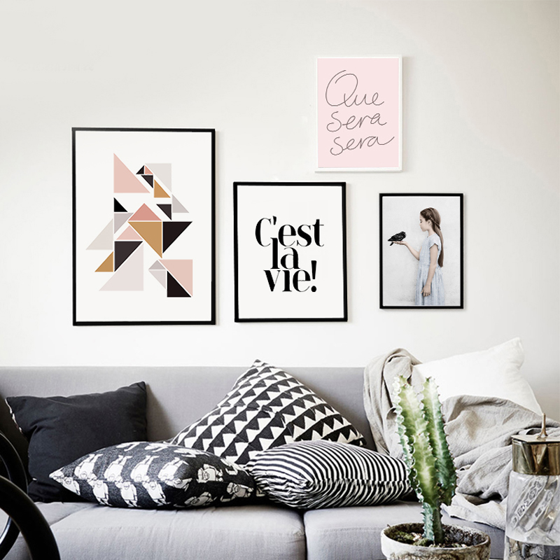 Wall pictures for living room cuadros canvas prints nordic for Wall poster for living room