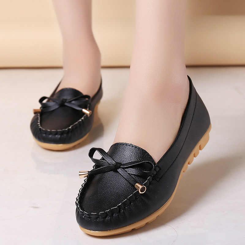 """Giày Đế Bằng Nữ Mùa Thu Trượt Giày Cho Nữ Lười Moccasin Nữ Zapatos Mujer """"Ba Lê Đế Bằng Nữ Người Phụ Nữ # d31"""